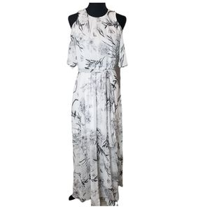 NWT Calvin Klein Cold Shoulder Belted Maxi Dress 6